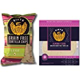 Siete Lime Flavor Grain Free Tortilla Chips Salt (5 ounce) & Siete Almond Flour Tortillas, 8 count