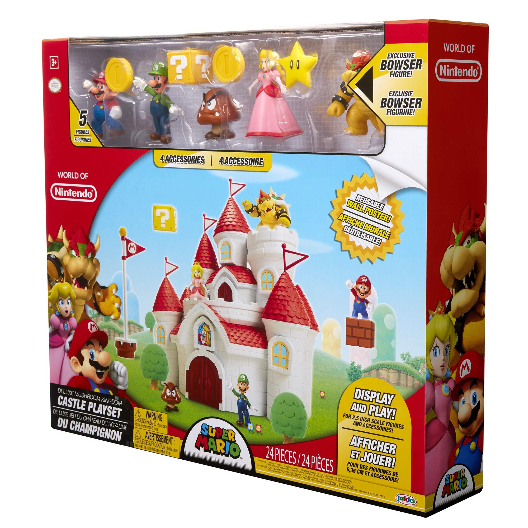 Nintendo Super Mario Deluxe Mushroom Kingdom Castle Playset with 5 Figures & 4 Accessories by Nintendo (Image #6)