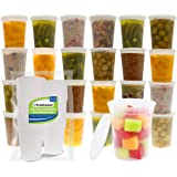 Freshware Food Storage Containers [24 Set] 32 oz Plastic Deli Containers with Lids, Slime, Soup, Meal Prep Containers…