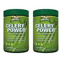 Garden Greens Celery Power Organic Celery Juice Powder, Unflavored, Organic, Supports Healthy Digestion, 2 Pack
