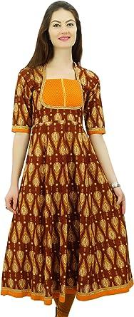 Indian Bollywood Design Coton Kurta Kurti Women élégant robe ethnique Haut Tunique