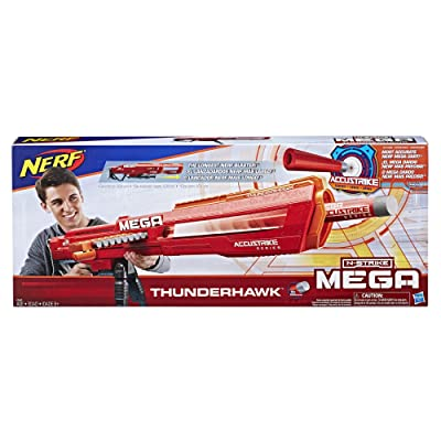NERF E0440EU4 N-Strike Mega AccuStrike Series Thunderhawk, Multi-Colour: Toys & Games