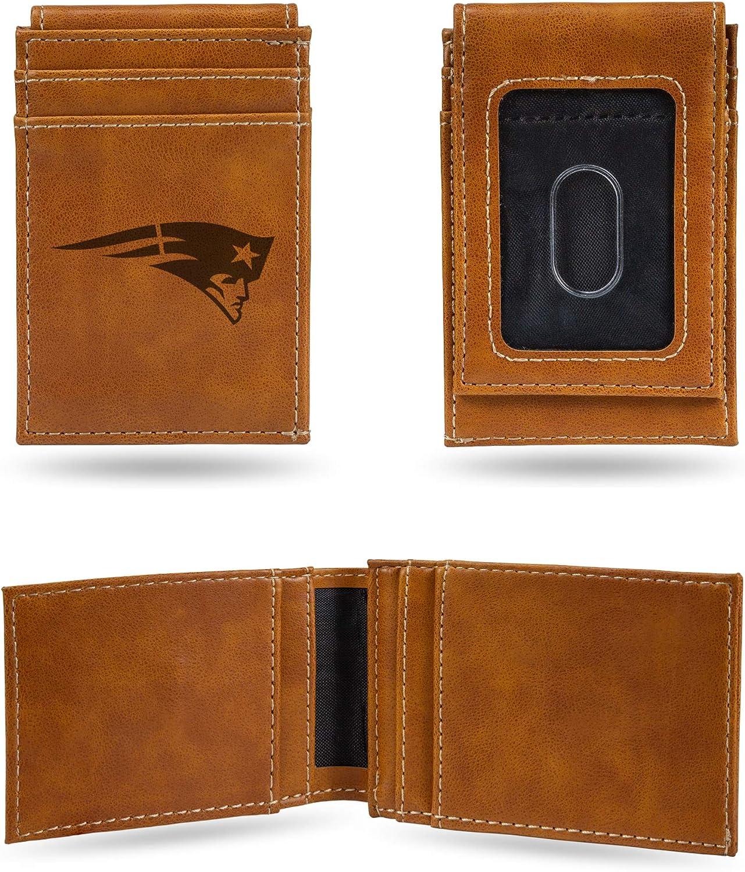 New England Patriots NFL Rico Industries  Laser Engraved Front Pocket Wallet