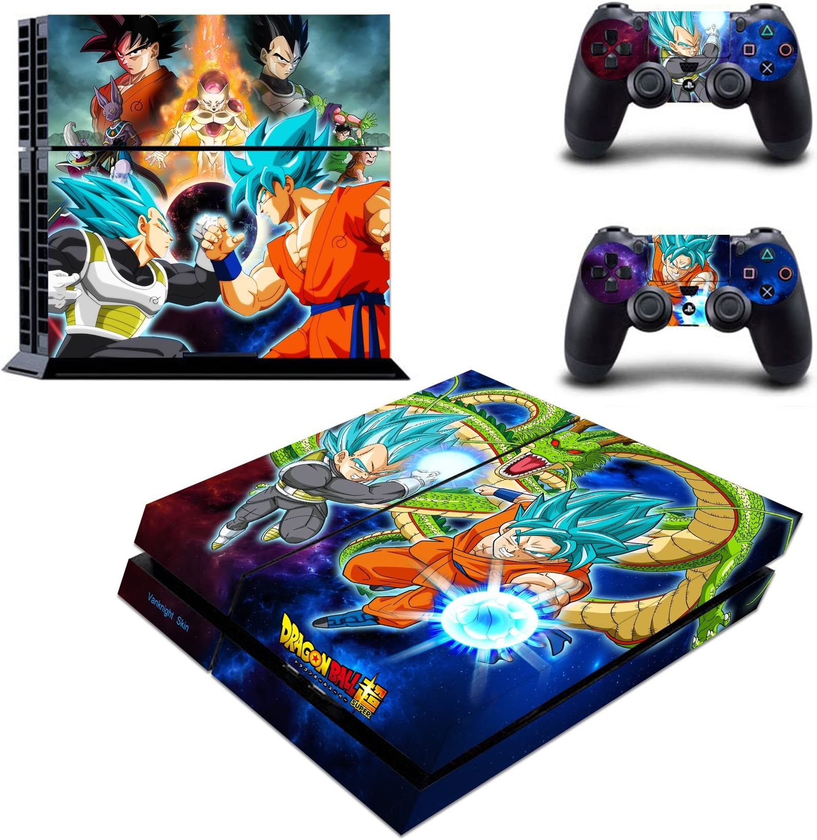 Dragon Ball 015 Vinyl Decal Skin Sticker For Xbox360 Slim And 2 Controller Skins Faceplates, Decals & Stickers