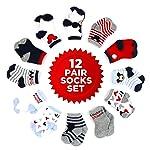 Disney Baby Boys' Mickey Mouse 12 Pair Socks Set