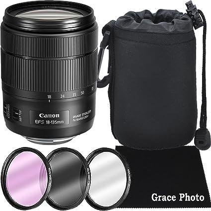 Canon EF-S 18 - 135 mm f/3.5 - 5.6 USM (Negro) de estabilización ...