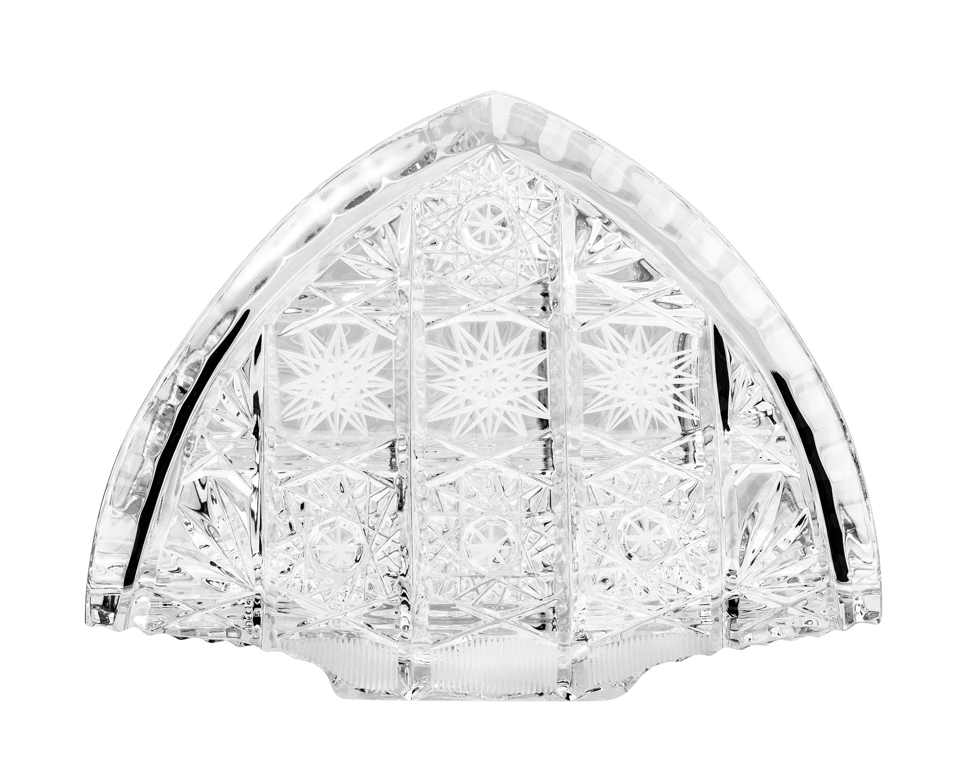 Bohemia Crystal 50221, 5.5-Inch Crystal Napkin Holder, Centerpiece Wedding Gift Decorative Tabletop Napkin Stand