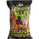 Burning Pain ® Jalapeño Kartoffelchips von Puszta Peppers ® 2er Pack (2 x 80g Tüte) - extrem scharf - extrem knusprig - extrem lecker - Xtra hot Chips - 8.000 Scoville