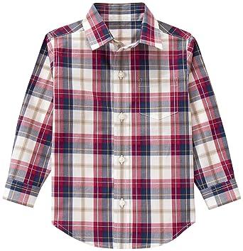 74a3f98a2 Amazon.com: Janie & Jack Baby Boys' Burgandy Plaid Top: Clothing