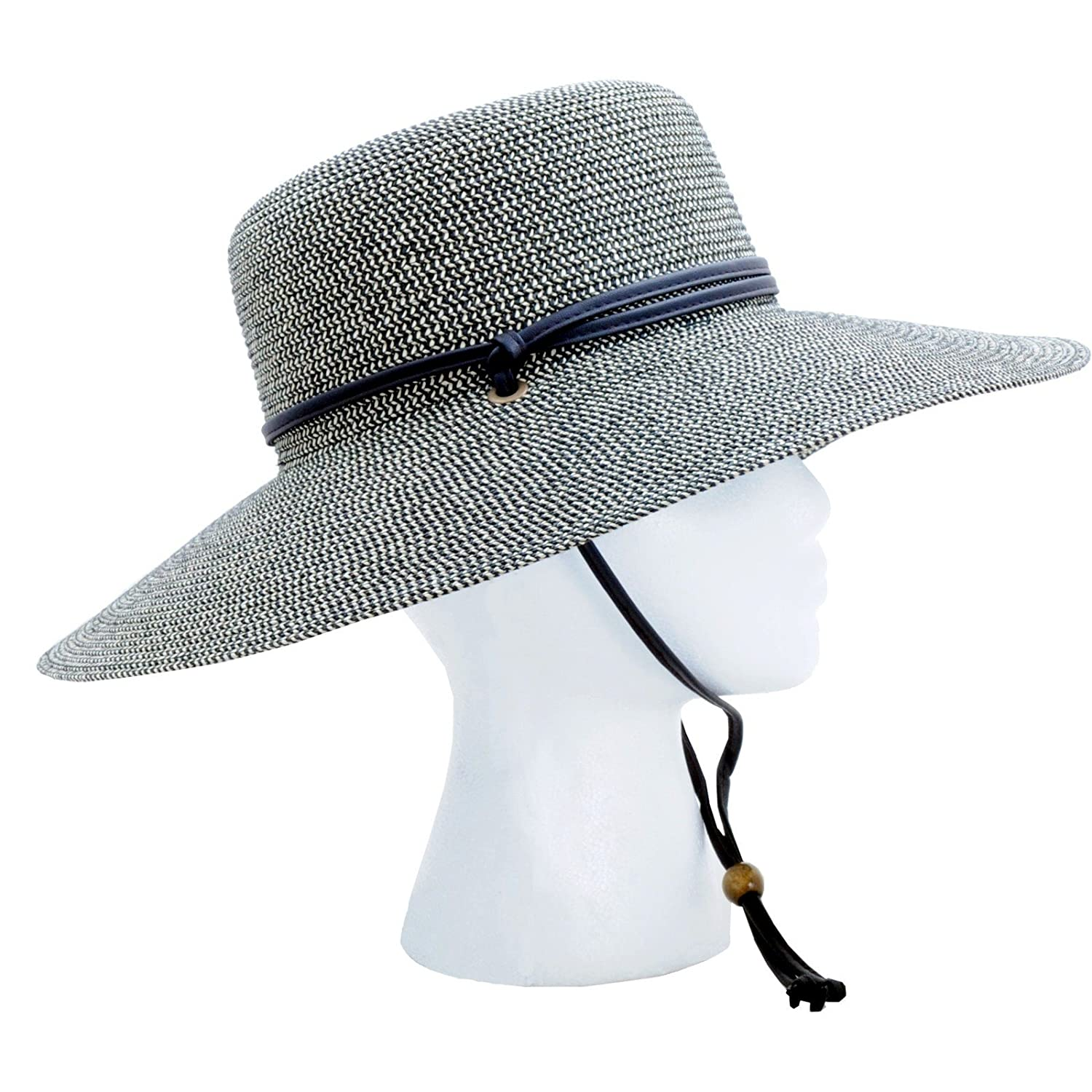 Amazon.com  Sloggers Women s Wide Brim Braided Sun Hat with Wind Lanyard -  Sage - UPF 50+ Maximum Sun Protection 7dc2d6bbc689