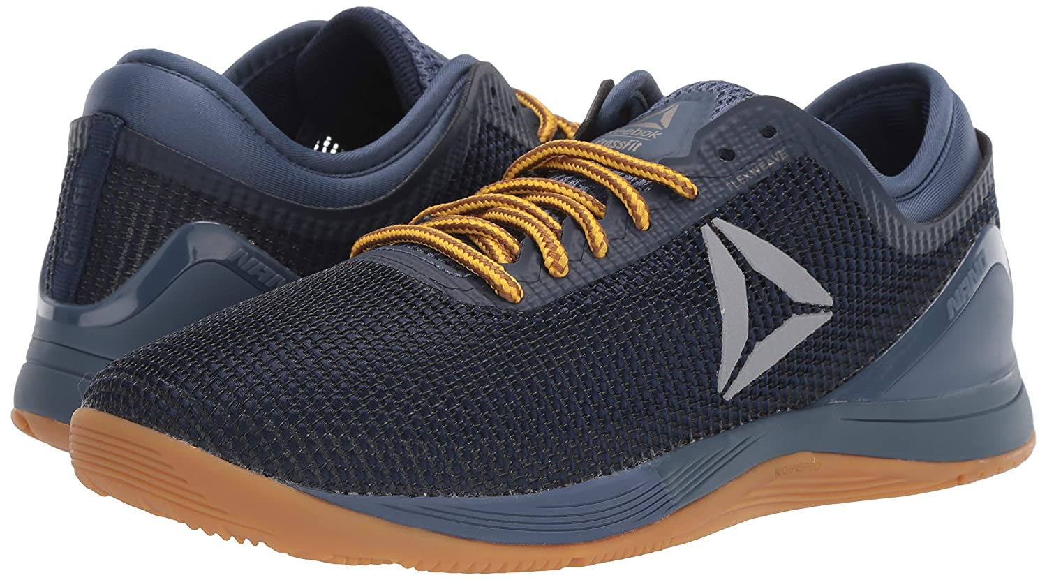 0ee5bec4 Reebok Men's Crossfit Nano 8.0 Flexweave Cross Trainer,  Navy/Royal/Black/Pewter/Gum, 11 M US