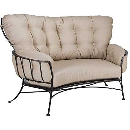 OW Lee Monterra Cuddle Sofa In Copper Canyon Finish, Sahara Carbon Fabric