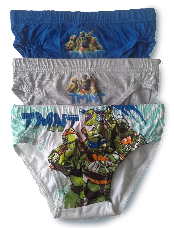 BOYS NINJA TURTLES BRIEFS PANTS UNDERWEAR - 3 Pack Design 3)