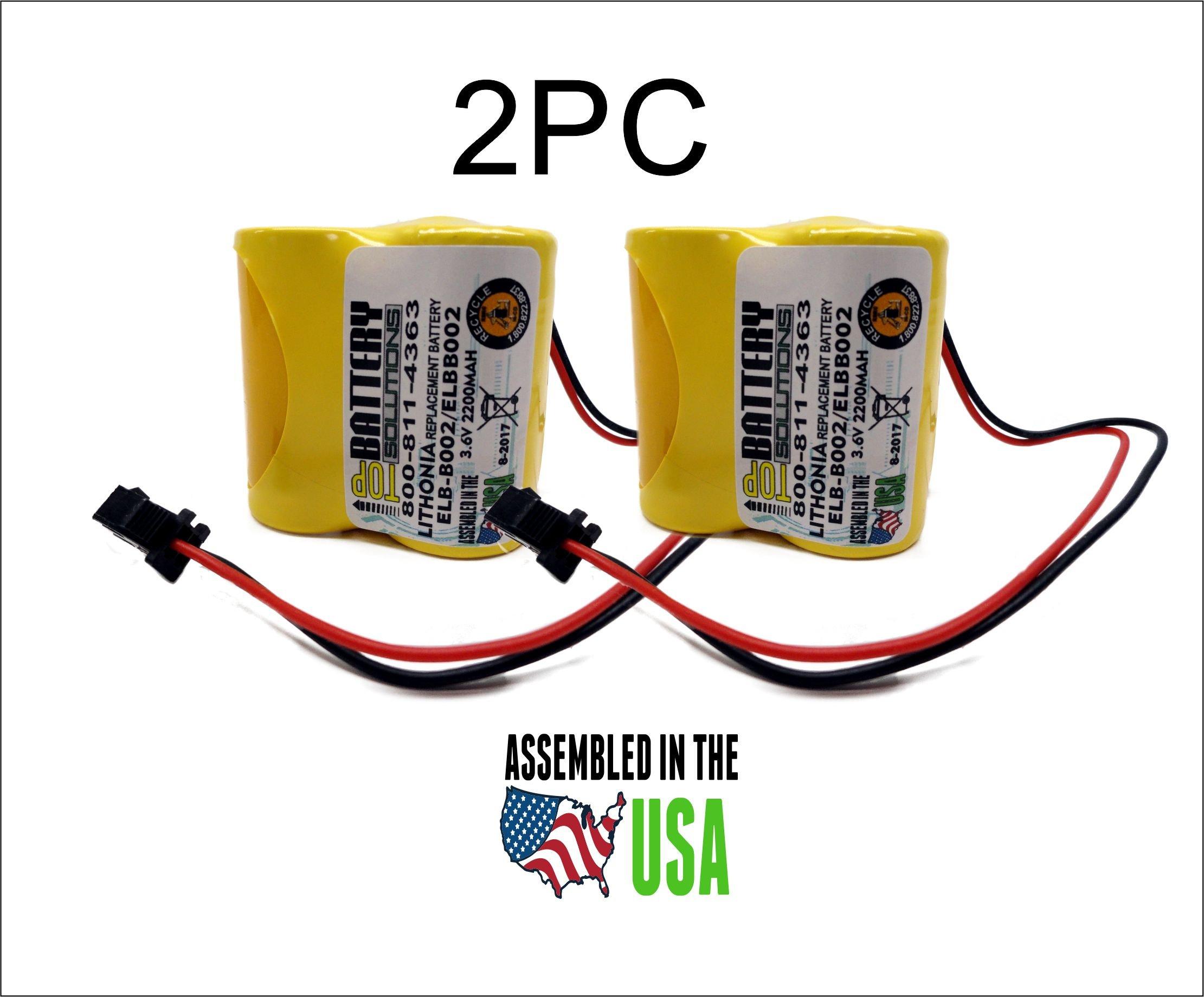 2pc Lithonia ELB-B002 Battery Emergency Light 3.6v 2.2Ah NiCD ELBB002