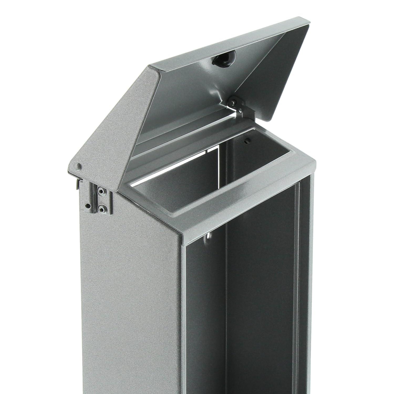 Verzinkter Stahl A5 Einwurf-Format Wei/ß BURG-W/ÄCHTER Briefkasten mit aufklappbarem Regendach Daily 5861 W