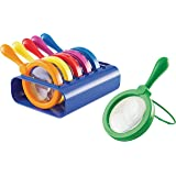 Learning Resources Primary Science Jumbo Magnifiers with Stand, Science Classroom Accessories, Teaching Aids, Set of 6 Magnif