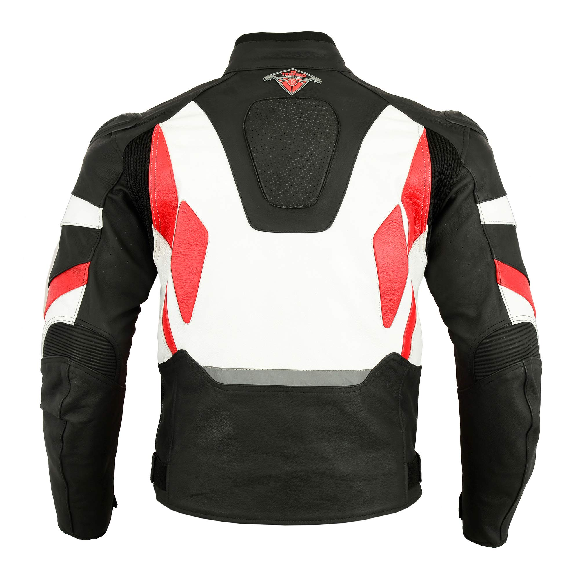 Mens Texpeed Pro Black Leather Motorcycle//Motorbike Racing Jacket With Removable Armour In 3 Colours