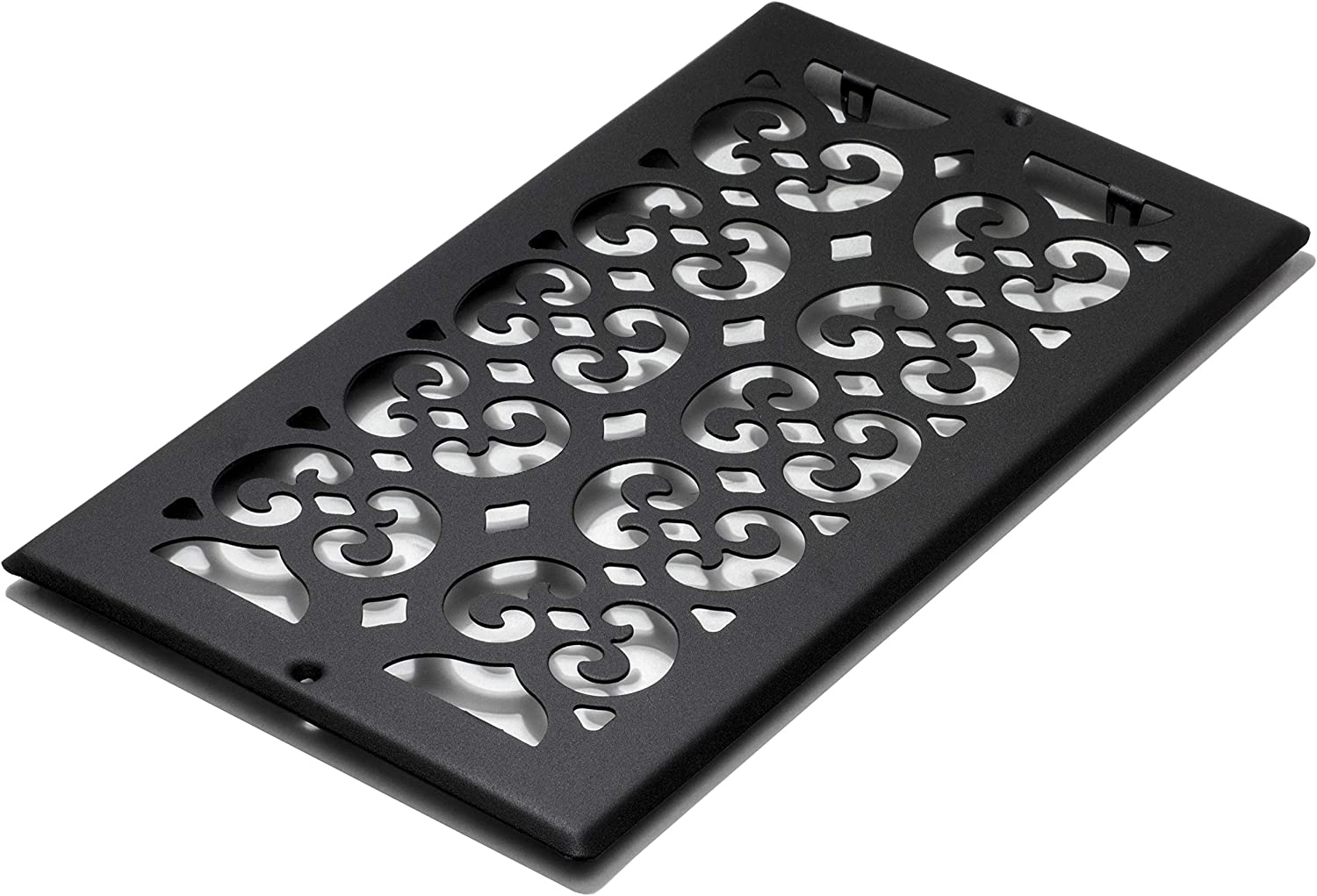 Decor Grates ST612R Floor Register, 6x12, Black Textured