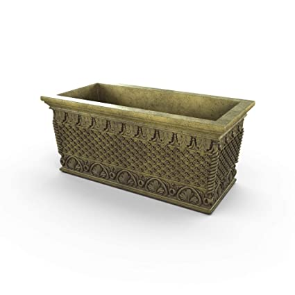Amazon.com: Gardenstone - Maceta de piedra fundida, diseño ...
