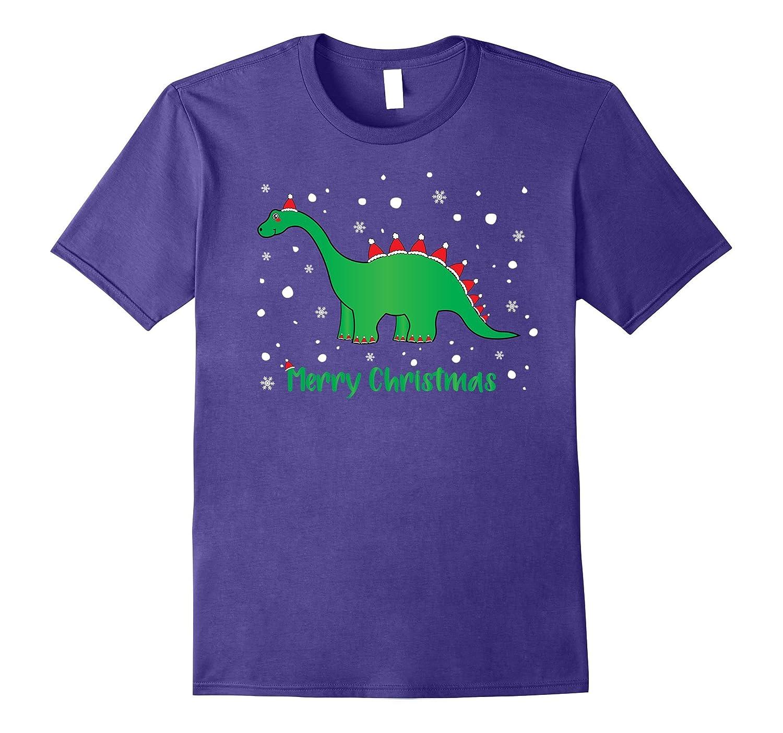 Dinosaur Merry Christmas Shirt Boys, Girls Holiday TShirts