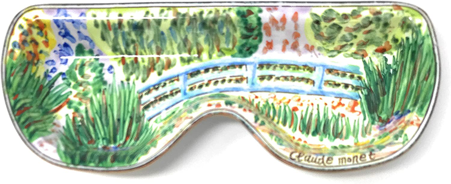 6.5 Inches Long Enameled Holder Kelvin Chen Monets Water Lily Pond Eyeglass Tray