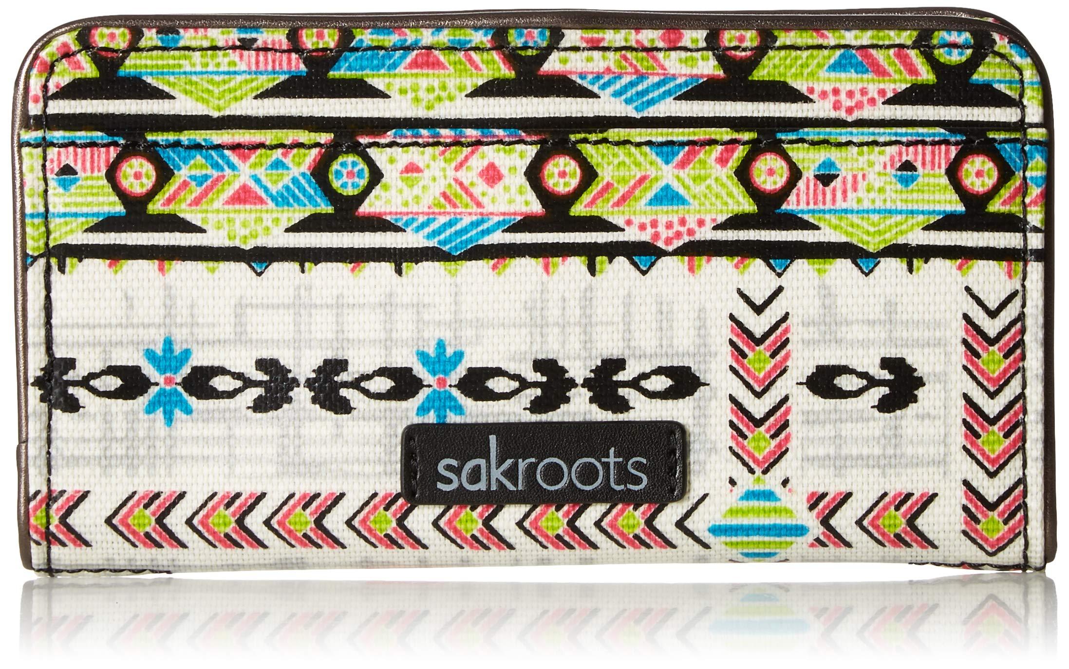Sakroots Unisex-adults Artist Circle Slim Wallet, Optic Spirit Wanderer by Sakroots