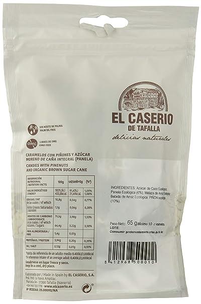 El Caserio de Tafalla Caramelos Piñones y Panela BIO 65gr - Pack de 15 unidades de 65 gr: Amazon.es: Alimentación y bebidas