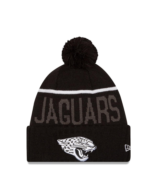 Jacksonville Jaguars New Era 2015 NFL Sideline Sport Knit Hat Chapeau - Black/White   B00SYF97IE