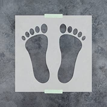 Amazon.com: Footprint Stencil Template - Reusable Stencil with ...