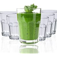 Drinking Glasses By Decor Works 12 Oz Acrylic Set of 6, Clear Tumbler Dishwasher Safe BPA FREE Unbreakable Cup Set Of 6