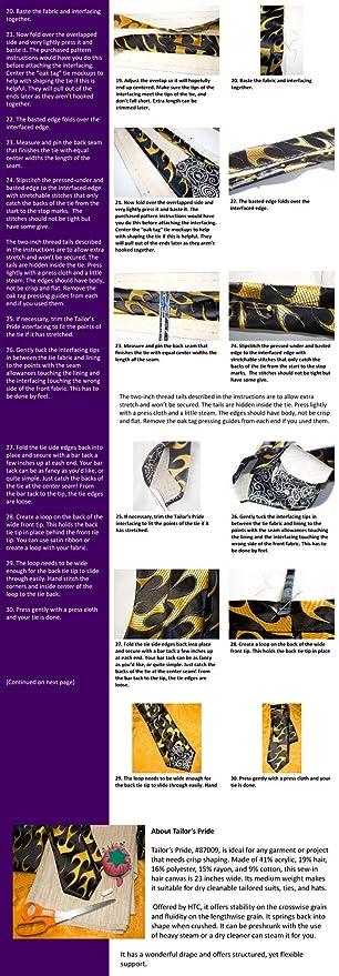 Tailors Pride HTC87009 - 24 pulgadas de ancho, entretela / interfacing vendidos por el patio: Amazon.es: Hogar