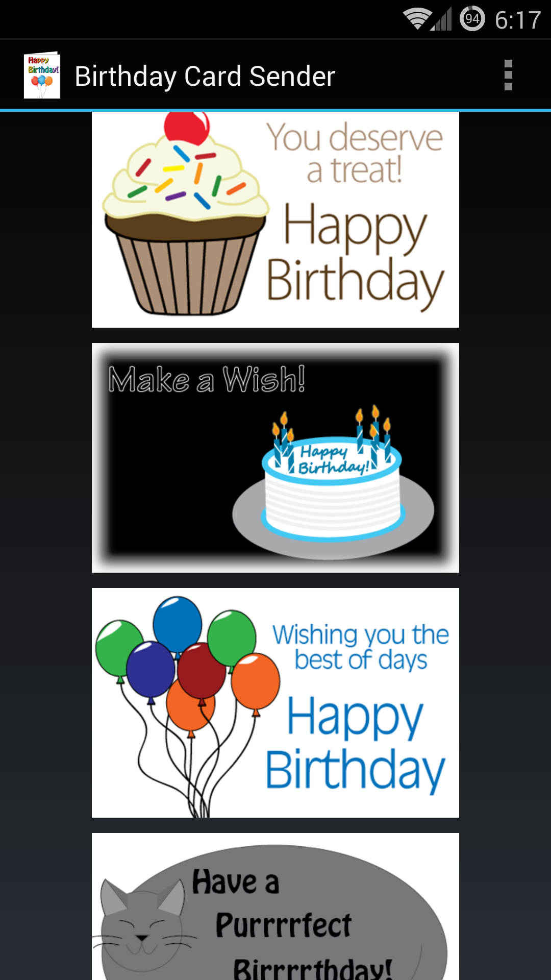 Amazon Birthday Card Sender Appstore for Android
