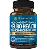 """Brain Booster Supplement – Nootropic Supports Mental Clarity, Memory & Focus. Scientifically Formulated For Prolonged Performance - DMAE, Bacopa, Rhodiola Rosea Extract and more. """"90 Day Supply"""""""