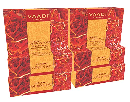 Saffron Soap (Saffron Bar Soap) with Goat Milk - Handmade Herbal Soap