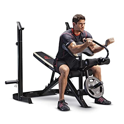 Magnificent Marcy Adjustable Olympic Weight Bench With Leg Developer And Squat Rack Md 879 Lamtechconsult Wood Chair Design Ideas Lamtechconsultcom