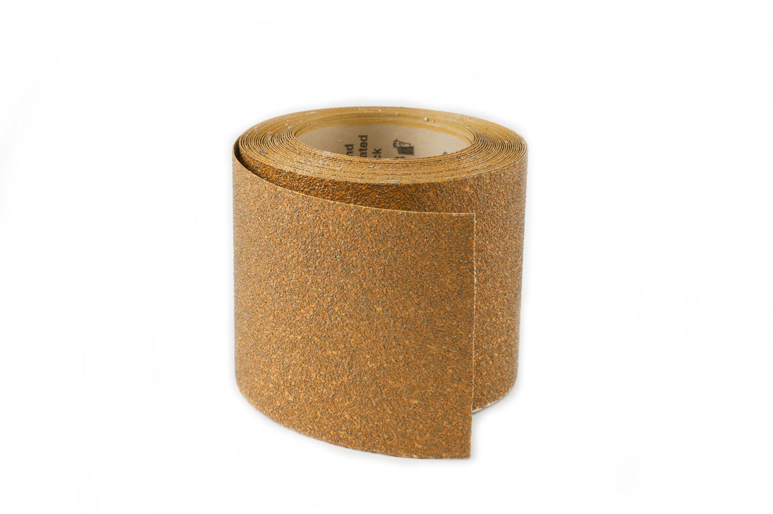 Karebac RHW40 PSA Sticky Back 40 Grit Gold Heavyweight Aluminum Oxide Rolls, 4-1/2'' x 10 yd