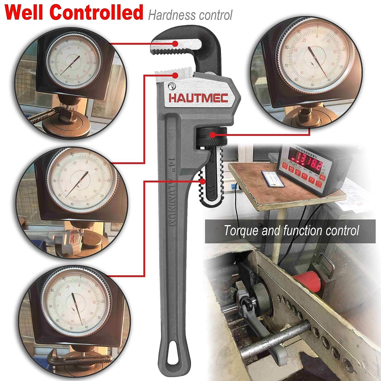 qualit/é industrielle HT0021-PW 91,4 cm HAUTMEC Poids l/éger en fonte daluminium Cl/é /à tuyaux