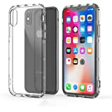 iPhone X Case, Molan Cano Thin Protective Shock Absorption Bumper Soft TPU Cover Case for Apple iPhone X - Transparent Clear