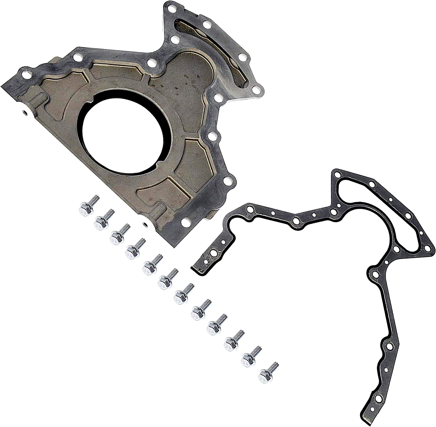 Bolt Kit Gasket APDTY 746629 Crankshaft Rear Main Seal With Housing Cover Replaces 12639250//12633579