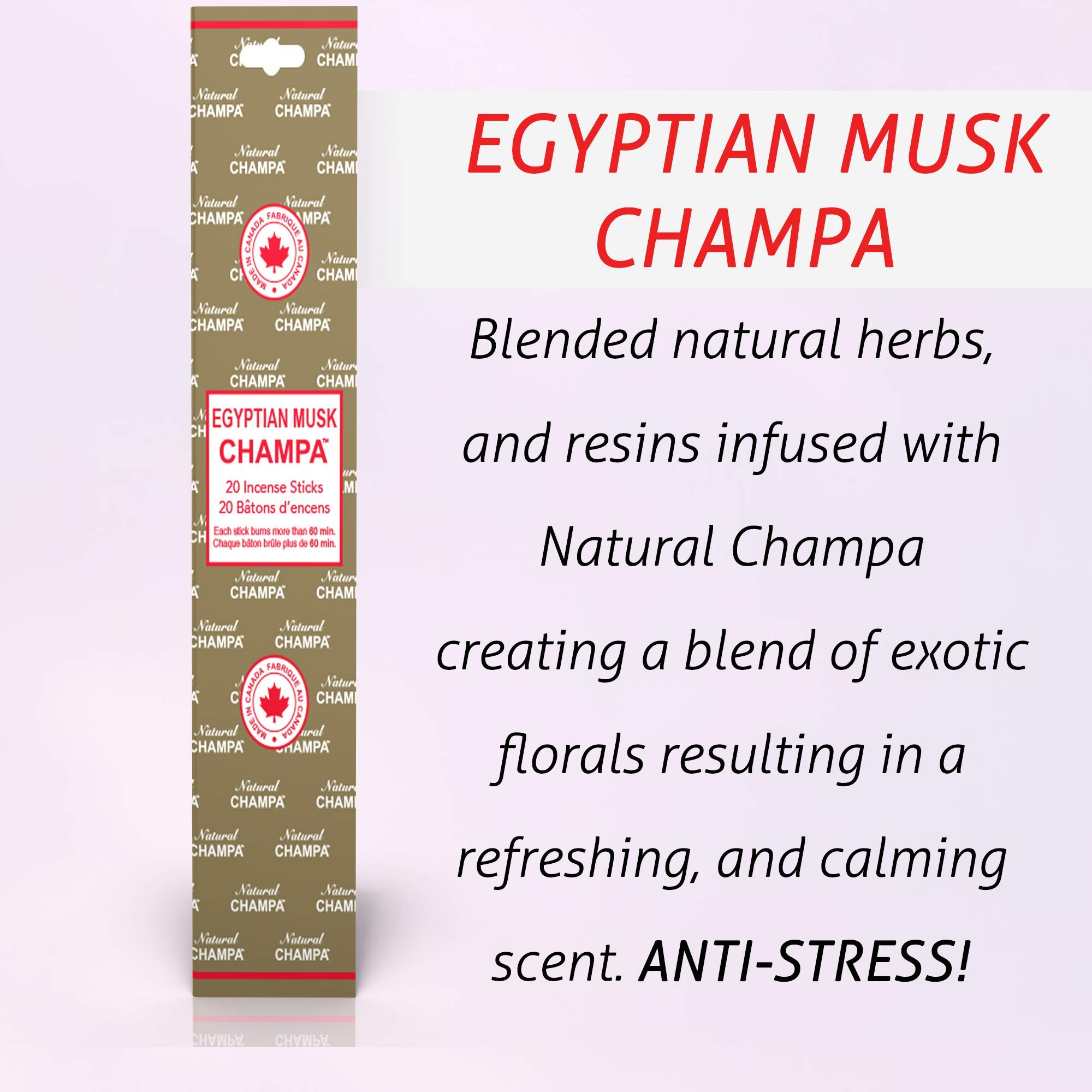 Natural Champa Incense Set - Classic Blended Collection of 140 Sticks with Free Incense Burner - Lasts 60+Minutes by Natural Champa (Image #5)