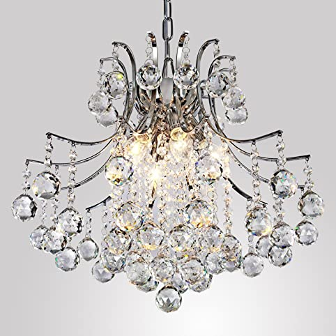 modern crystal chandelier with 6 lights pendant modern ceiling light fixture for bedroom