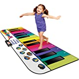 Kidzlane Floor Piano Mat for Kids and Toddlers - Giant 6 feet Piano Mat, 24 Keys – 10 Song Cards, Built in Songs, Record…