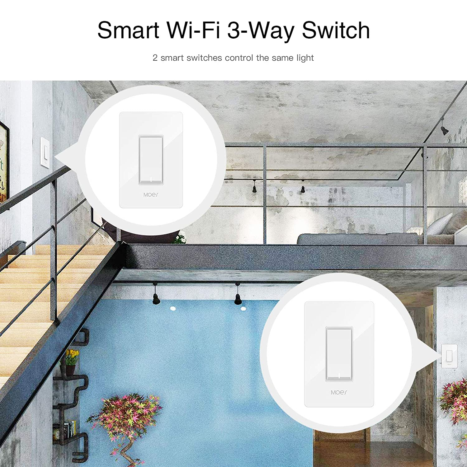 Moes 3 Way Wifi Smart Switch For Light Fan Compatible With Alexa Switching And Neutral As Well Google Home No Hub Required Life App Provides Control From Anywhere