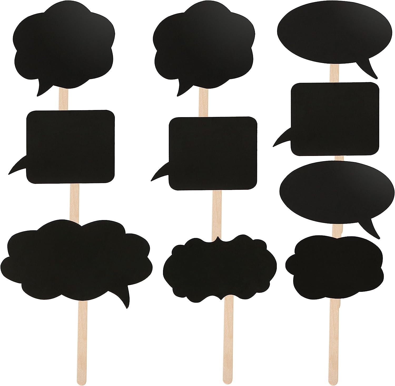TRIXES 10 Pizarras con Bocadillos de Discursos - Tarjetas Surtidas para Hacer uno Mismo - Pequeño - Ideal para Usar como Indicadores para Comida o Marcadores