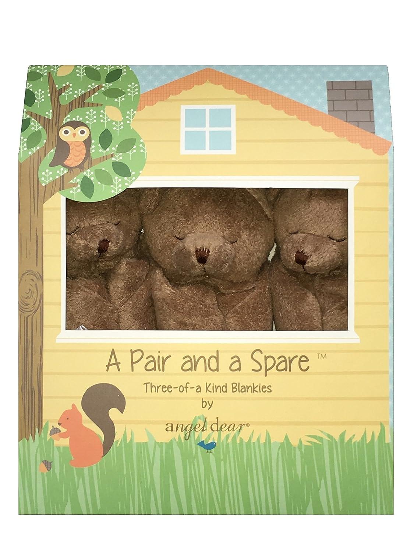 Angel Dear Pair and a Spare 3 Piece Blanket Set Box, Brown Bear by Angel Dear   B01E6PUE28