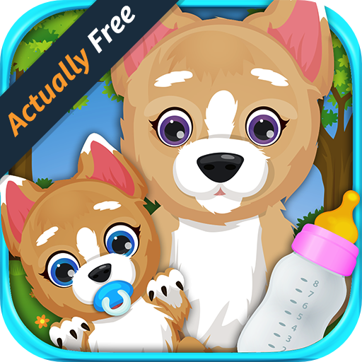 Newborn Puppy Baby & Mommy Dog Pregnancy Care – Animal Pet Dress Up, Bath Time, Food, Doctor Vet, Play Dogs Toys for Girls and Boys Game FREE