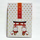 【京都観光】稲荷・きつねさん柄の御朱印帳(M)麗聲堂オリジナル柄
