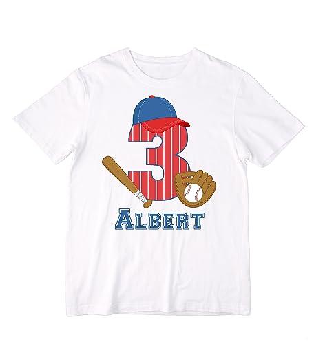 Amazon Personalized Baseball Birthday Shirt Or Bodysuit