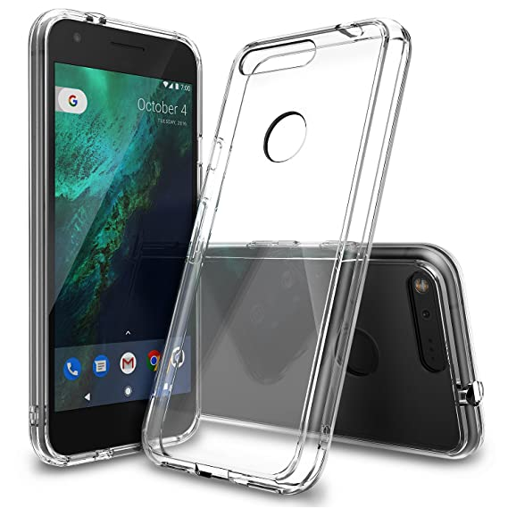 best service ae72c 5f222 Ringke Fusion Compatible with Google Pixel Case Crystal Clear PC Back TPU  Bumper [Drop Protection, Shock Absorption Technology] Raised Bezels ...