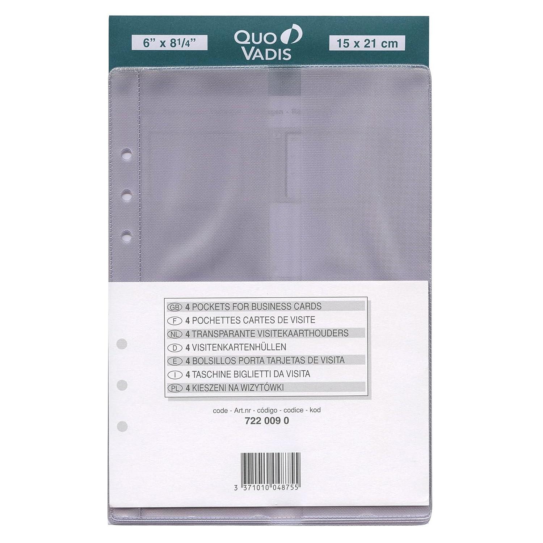 QUO VADIS Recharge Accessoires Organiseur POCHETTE CARTES VISITE Timer 21 15 X Cm Amazonfr Fournitures De Bureau